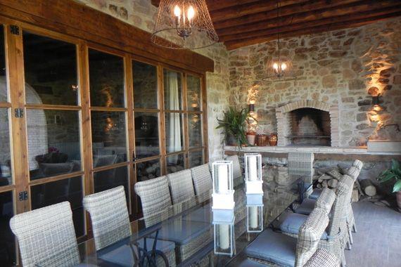 Casa rural con encanto cirera d 39 avall - Porches con barbacoa ...